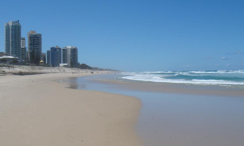 Queensland Gold Coast beach view