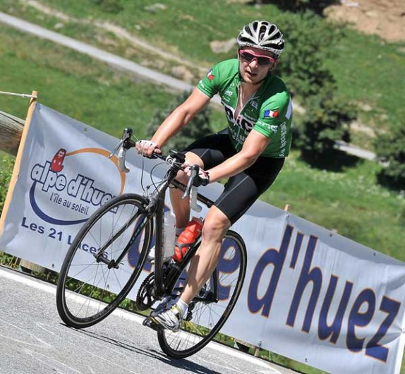 Epic Camp France 2011 - Climbing the Alpe d'Huez in the Green Jersey