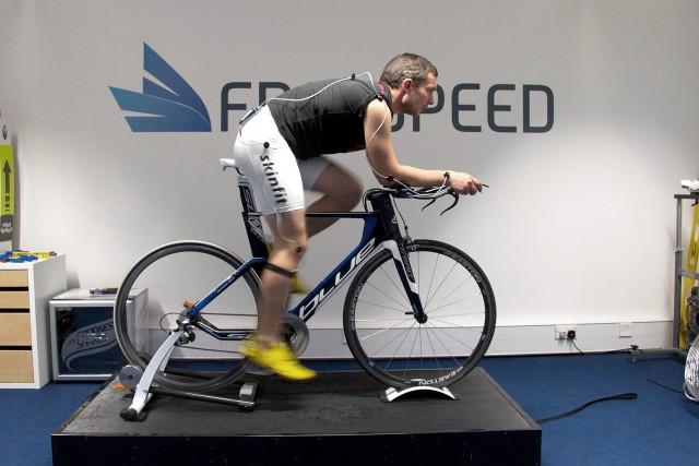 Russ Cox's final bike position on Blue Triad SL at Freespeed