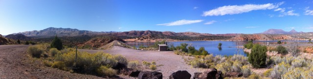 Gunlock Reservoir on the Ironman St George bike course