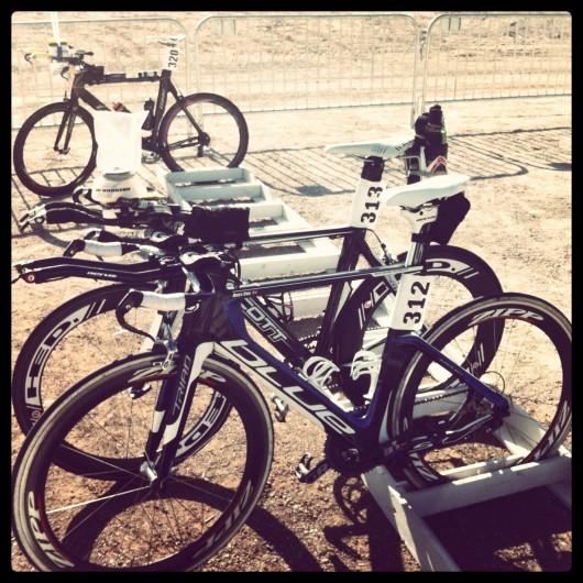 Henderson ITU Long Distance World Championship - T1 bike racking