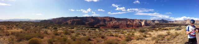 Ironman course - On the descent to St George