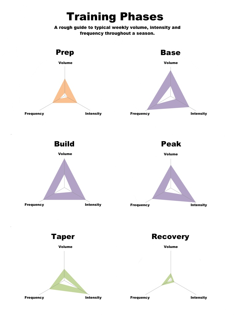Visual Representation of Training Phases using Radar Charts