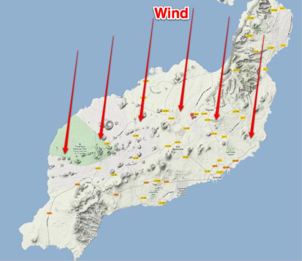 Lanzarote predominant winds