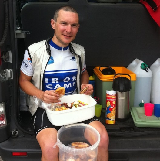 Pyrenees Multisport Iron Camp - refuelling stop