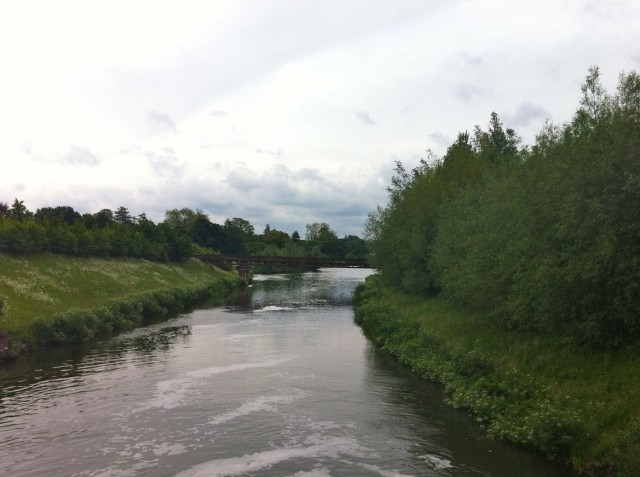 Jubilee River at Boulter's Lock. The start of the Jubilee River Swim 2012