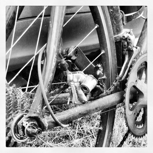 Broken rear Derailleur at Ironman 70.3 UK, Wimbleball