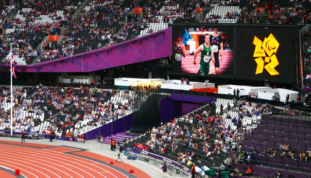 The Olympic Flame in the Olympic Stadium