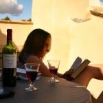 Relaxing in Lourmarin