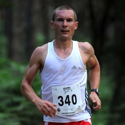 Coach Russ in a 10K Trail Race