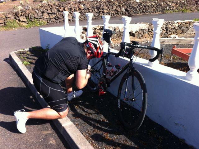 Mid ride bike maintenance