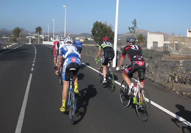 The athletes on the road