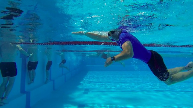 The 50m band-only swim race