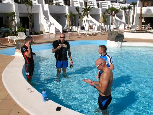 Athletes Recover prior to the Swim