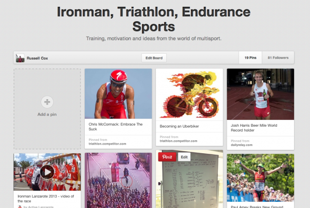 Pinterest - Ironman, Triathlon and Endurance Sports Board