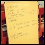 Tuesday 23rd July 2013 - Threshold Swim Session