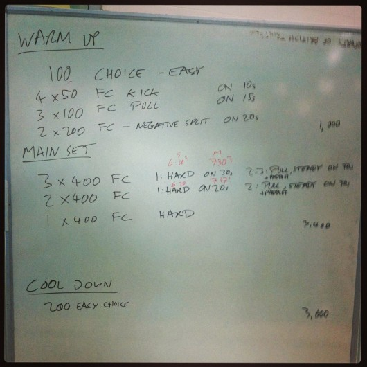 Thursday 25th July 2013 - Endurance Swim Session
