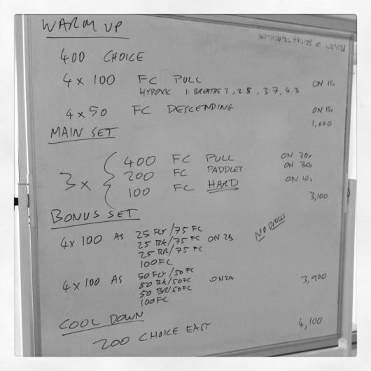 Coached Swim Session - Thursday, 1st August 2013