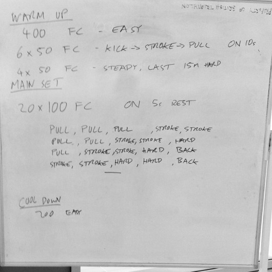 Swim set: Thursday 8th August 2013