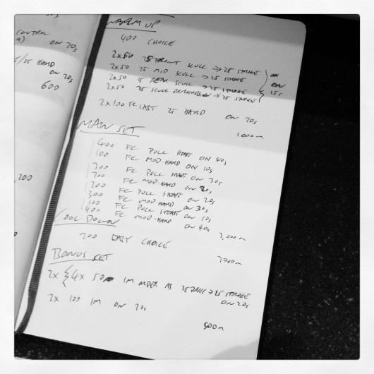 Endurance Swim Session - Thursday, 12th September 2013