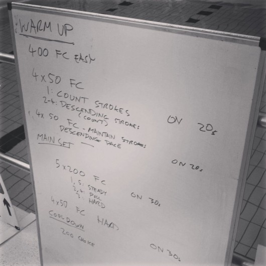 Swim Set - Tuesday, 17th September 2013
