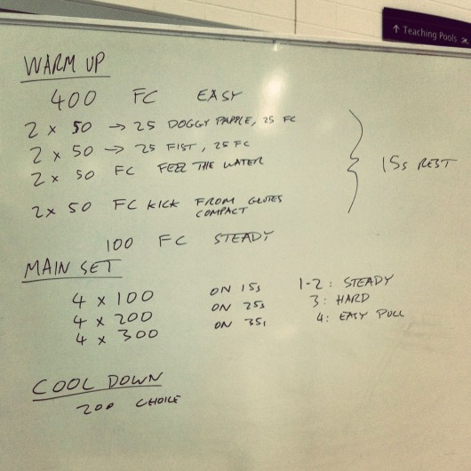 Swim Set - Thursday, 19th September 2013