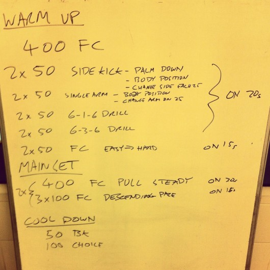 Swim Set - Tuesday, 24th September 2013