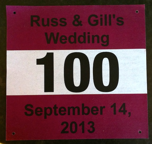 Russ and Gill's Wedding Numbers