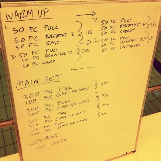 Swim Set - Tuesday 8th October 2013
