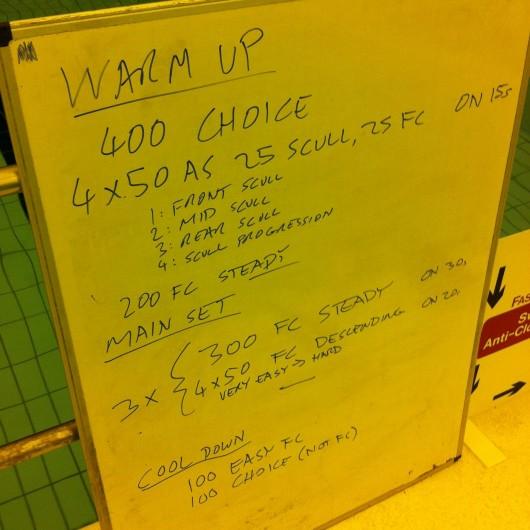 Swim Session - Tuesday 5th November 2013