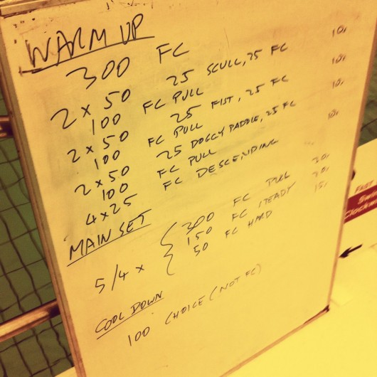 Tuesday, 17th December 2013 - Endurance Session