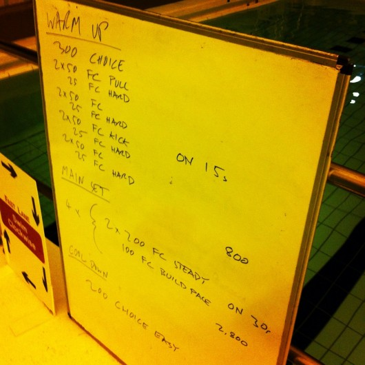 Swim Session - Tuesday 3rd December 2013