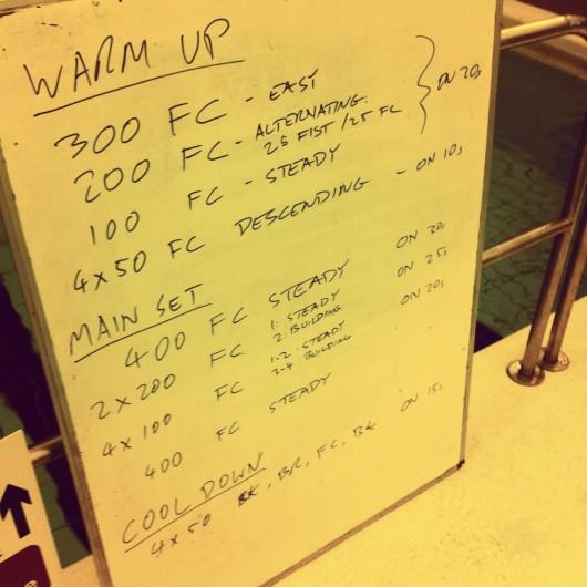 Swim Set - Tuesday, 10th December 2013