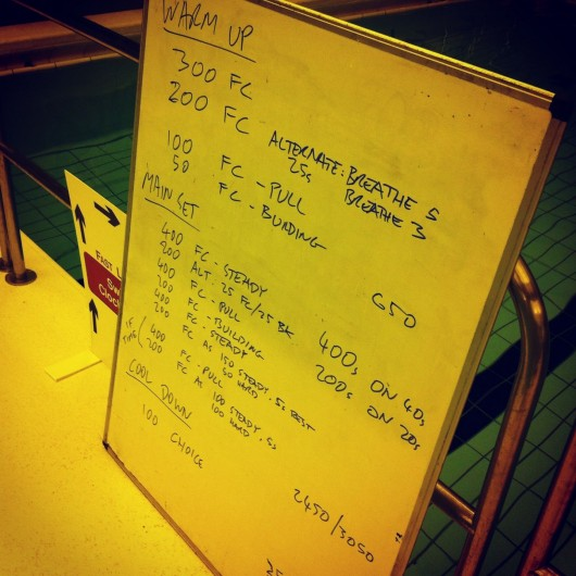 Swim Set - Tuesday, 14th January 2014