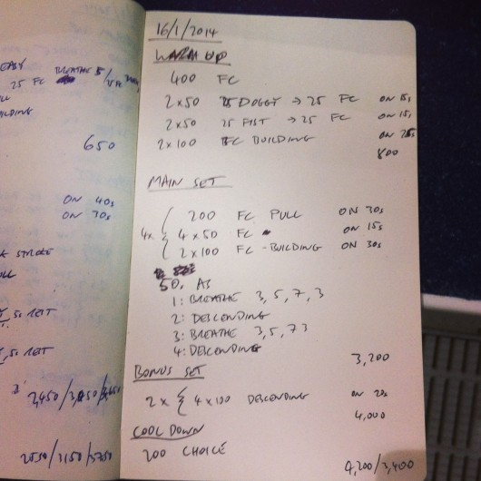 Swim Set - Thursday, 16th January 2014