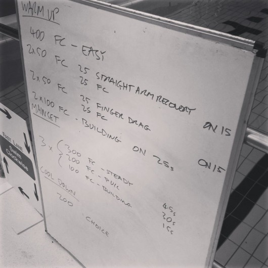 Tuesday, 21st January 2014 - Endurance Session