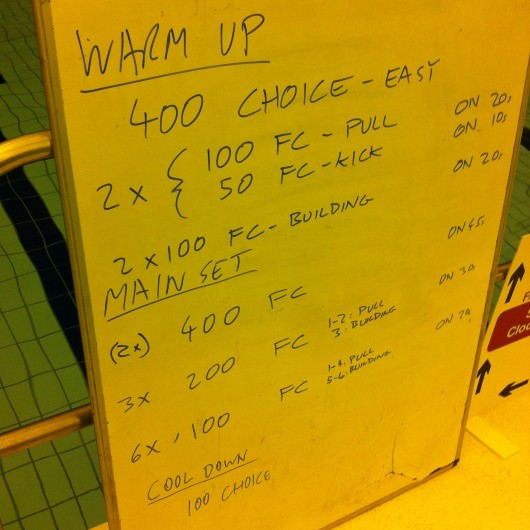 Tuesday, 28th January 2014 - Endurance Swim Session