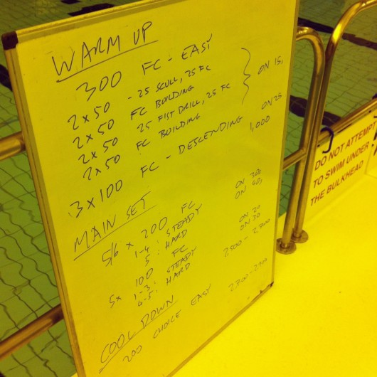 Tuesday, 11th February 2014 - Endurance Swim Session