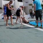 Swim relay transition