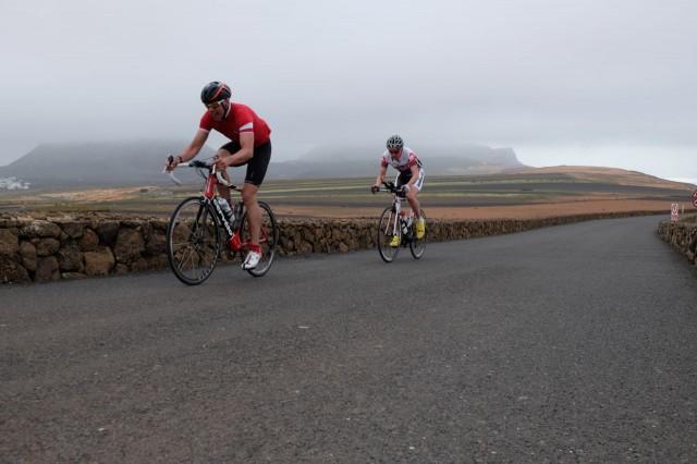 Race to the top of Mirador del Rio