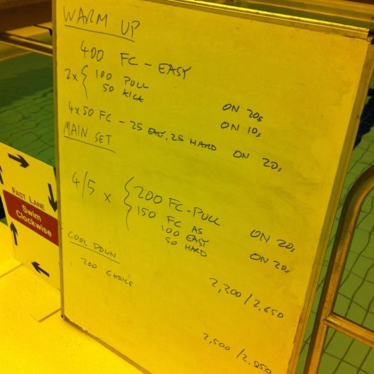 Tuesday, 11th March 2014 - Endurance Swim Session