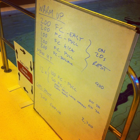 Tuesday, 25th March 2014 - Endurance Swim Session