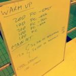 Tuesday, 1st April 2014 - Endurance Swim Session