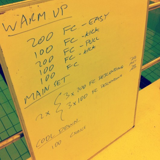 Tuesday, 1st April 2014 - Endurance Swim Session