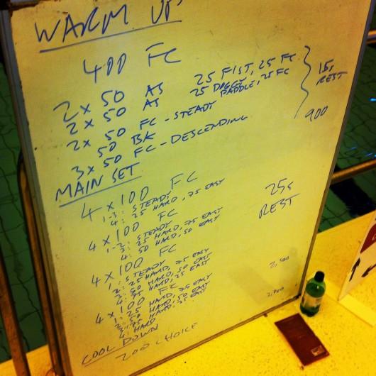 Tuesday, 8th April 2014 - Endurance Swim Session
