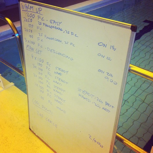 Tuesday, 15th April 2014 - Endurance Swim Session