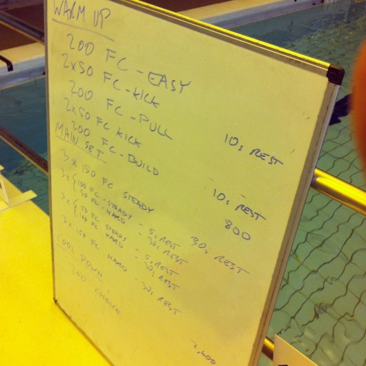 Tuesday, 29th April 2014 - Endurance Swim Session