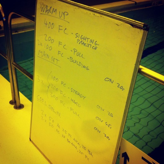 Tuesday, 20th May 2014 - Endurance Swim Session