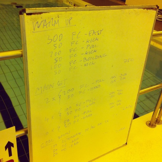 Tuesday, 3rd June 2014 - Endurance Swim Session