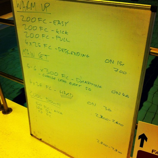 Tuesday, 17th June 2014 - Endurance Swim Session